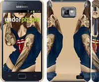 """Чехол на Samsung Galaxy S2 i9100 Девушка в наколках v2 """"1079c-14"""""""