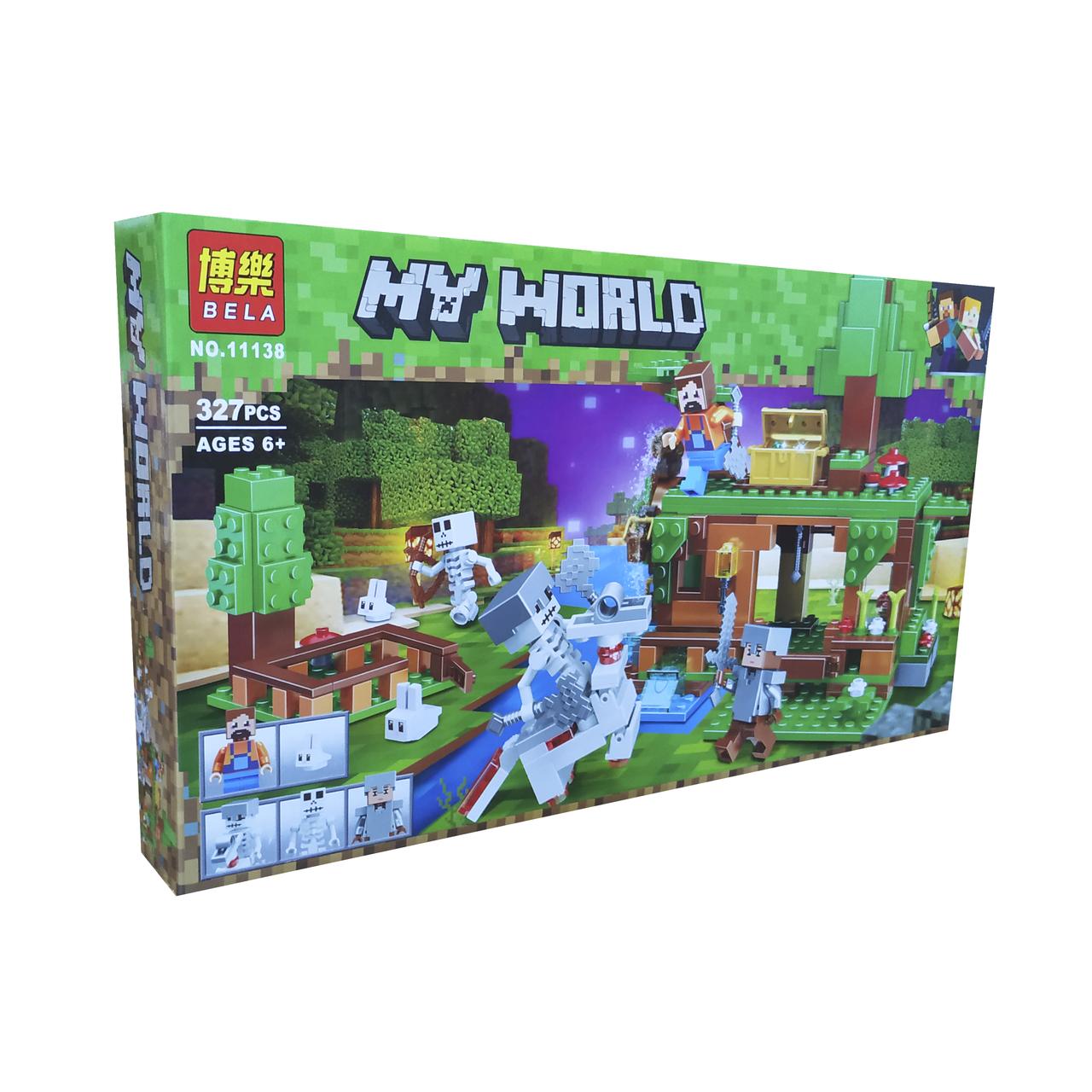 Конструктор Bela Minecraft Битва за сокровища, 327 деталей scs