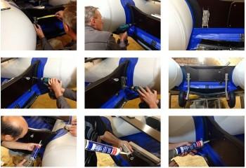 как устанавливают транцевые колёса на надувную лодку