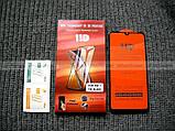 Брендове захисне скло 11d для Xiaomi Redmi 7, повний клей + олеофобне покриття, фото 7