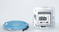 Сталь Терморегулятор для теплого пола с дисплеем Schneider Asfora