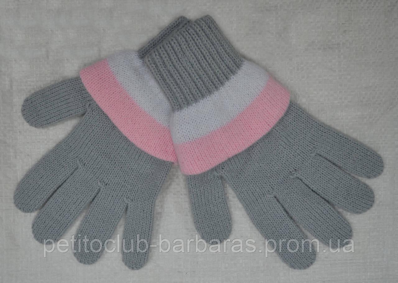 Перчатки для девочки AXG серые (MargotBis, Польша)