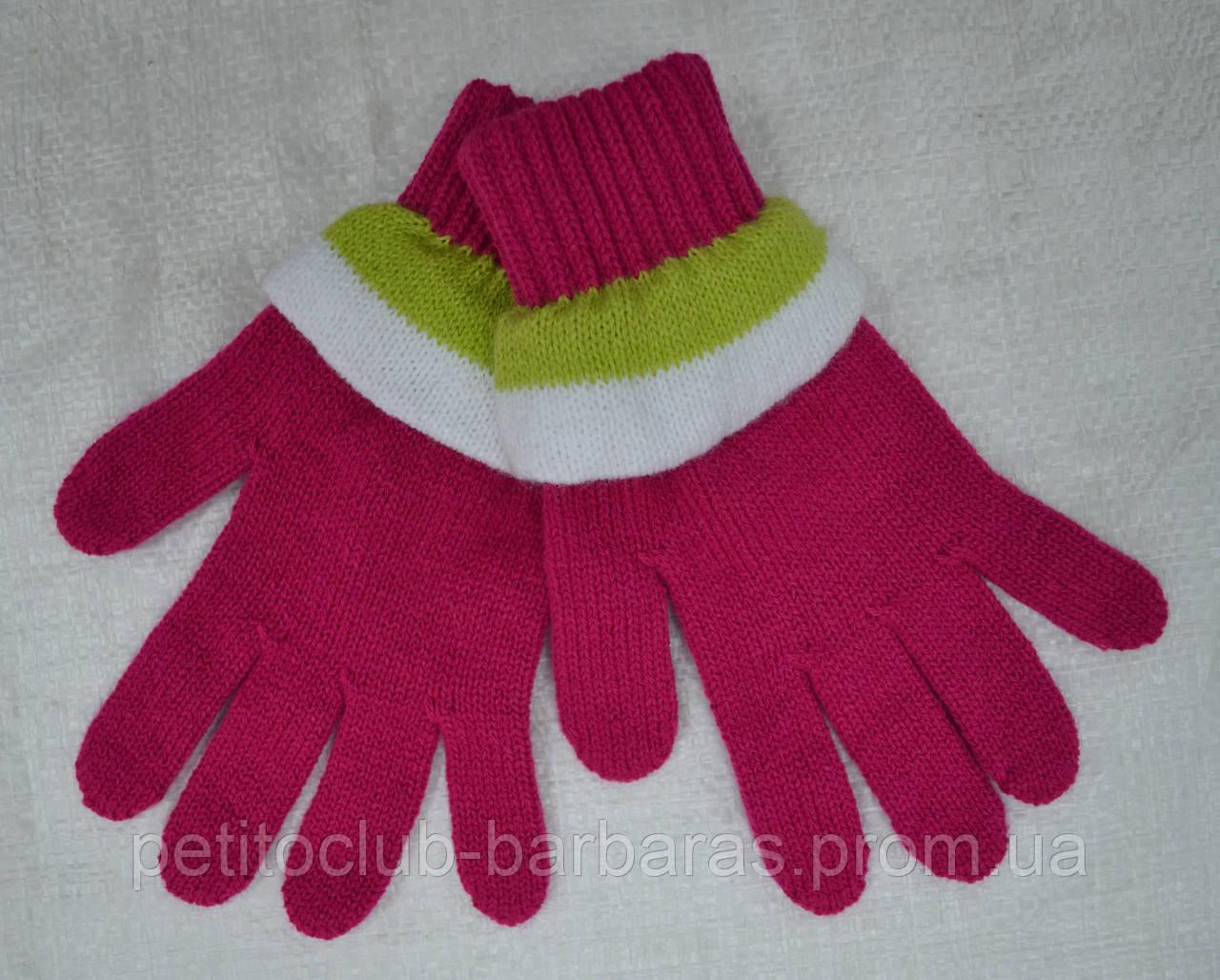 Рукавички для дівчинки AXG темно-рожеві (MargotBis, Польща)