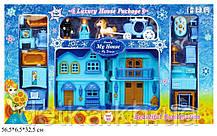 Кукольный дом BS866-18F с куклами,мебелью батар.муз.свет