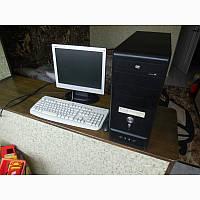 Компьютер в сборе, Intel Core 2 Duo 2x2.5 Ггц, 4 Гб ОЗУ DDR2, 320 Гб HDD, монитор 17 дюймов, фото 1