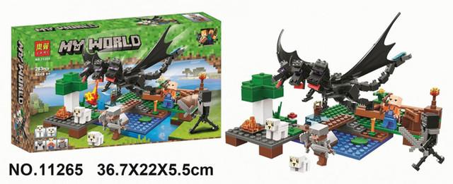 """Конструктор Bela (Lari) 11265 Minecraft """"Битва с Черным Драконом"""", 283 детали"""
