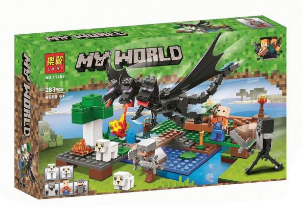 """Конструктор Bela (Lari) 11265 Minecraft """"Битва с Черным Драконом"""", 283 детали. Аналог Лего Майнкрафт"""