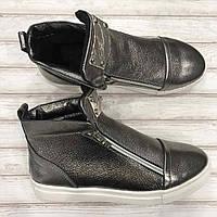 Кеды  ботинки женские кожаные Pella