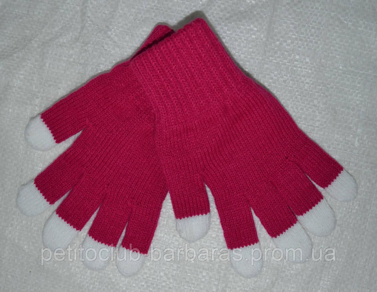 Перчатки для девочки Darkness темно-розовые (MargotBis, Польша)