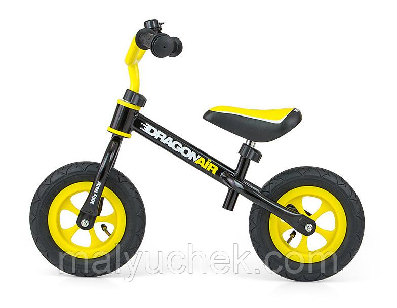 """Беговел dragon air на надувных 10"""" колеса Беговел yellow-red"""