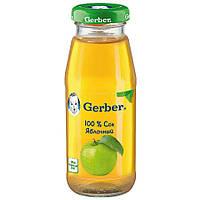 Детский сок яблочный 175гр Gerber Швейцария 12347969