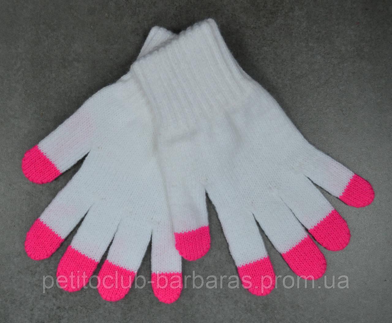 Перчатки для девочки Darkness белые (MargotBis, Польша)