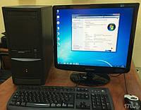 Компьютер в сборе, Intel Core 2 Duo 2x2.5 Ггц, 4 Гб ОЗУ DDR2, 320 Гб HDD, монитор 19 дюймов 16:9, фото 1
