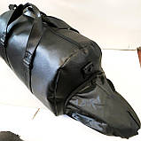 Спортивные сумки из искусственной кожи (ЧЕРНЫЙ БЕЗ НАКТКИ)25х28х50см, фото 5