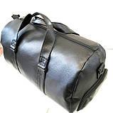Спортивные сумки из искусственной кожи (ЧЕРНЫЙ БЕЗ НАКТКИ)25х28х50см, фото 3