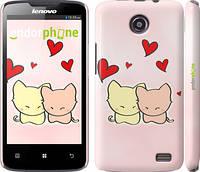 """Чехол на Lenovo A820 Любовь. Розовые коты """"703c-68"""""""