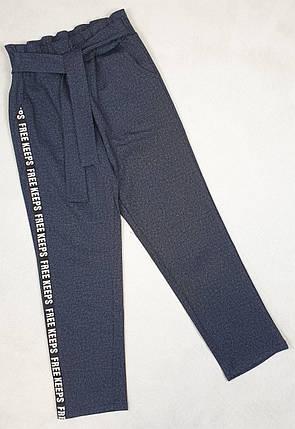Брюки  для девочки с завышенной талией 128-146 джинс, фото 2