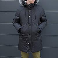"""Парка зимняя мужская """"Taranis"""" от бренда """"ТУР"""" черная куртка теплая"""