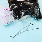 Ярлыкодержатель для крепления бирок и ярлыков 1000 штук (белый, черный, прозрачный), фото 5