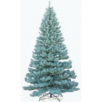 Новогодняя искусственная литая ель 2,5 метра Элитная голубая, фото 2