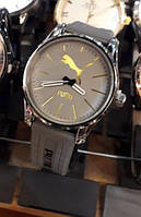 Часы спорт мужские серые с золотом на батарейке 116470 копия