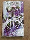 Подарочный пакет БОЛЬШОЙ ВЕРТИКАЛЬНЫЙ 25*37*8 см Прованские цветы, фото 2