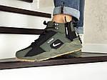 Зимові кросівки Nike Huarache (темно-зелені), фото 2