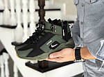 Зимові кросівки Nike Huarache (темно-зелені), фото 3