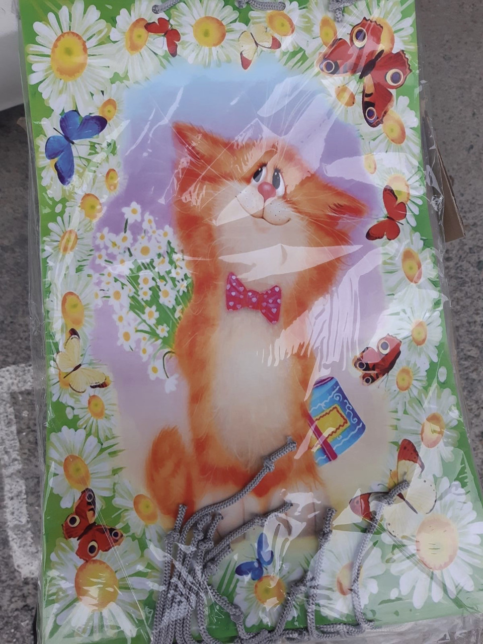 Подарочный пакет БОЛЬШОЙ ВЕРТИКАЛЬНЫЙ ''Котя''  25*37*8 см