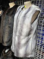 Жилетка женская Эко Мех БАТАЛ рр 50-58 цвета в ассортименте