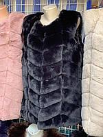 Жилетка женская Эко мех рр С. М до 2Х  цвета в ассортименте