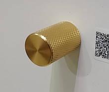 Ручка мебельная кнопка Virno Lines 407 золото