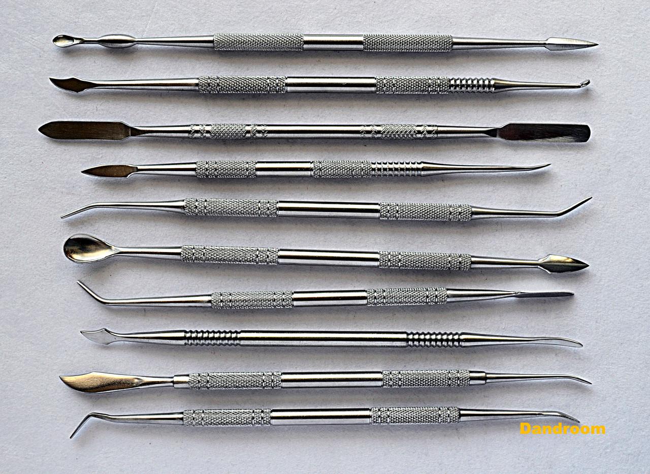 Набор инструментов для лепки, стеки металлические, двухсторонние, 10 шт.