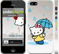 "Чехол на iPhone 5s Hello kitty. Its raining ""675c-21"""