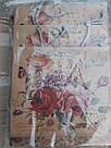 Подарунковий паперовий пакет КВАДРАТ 24*24*10 см Квіти, фото 2