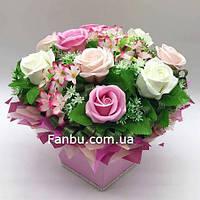 """Ароматный букет,розы из мыла """"Воздушная акварель"""" 9"""