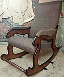 """Кресло-качалка """"Шерлок"""". Цвет каркаса и ткани можно изменять., фото 6"""