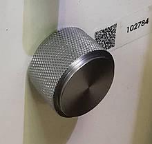 Ручка мебельная кнопка Virno Lines 407/16 нержавеющая сталь