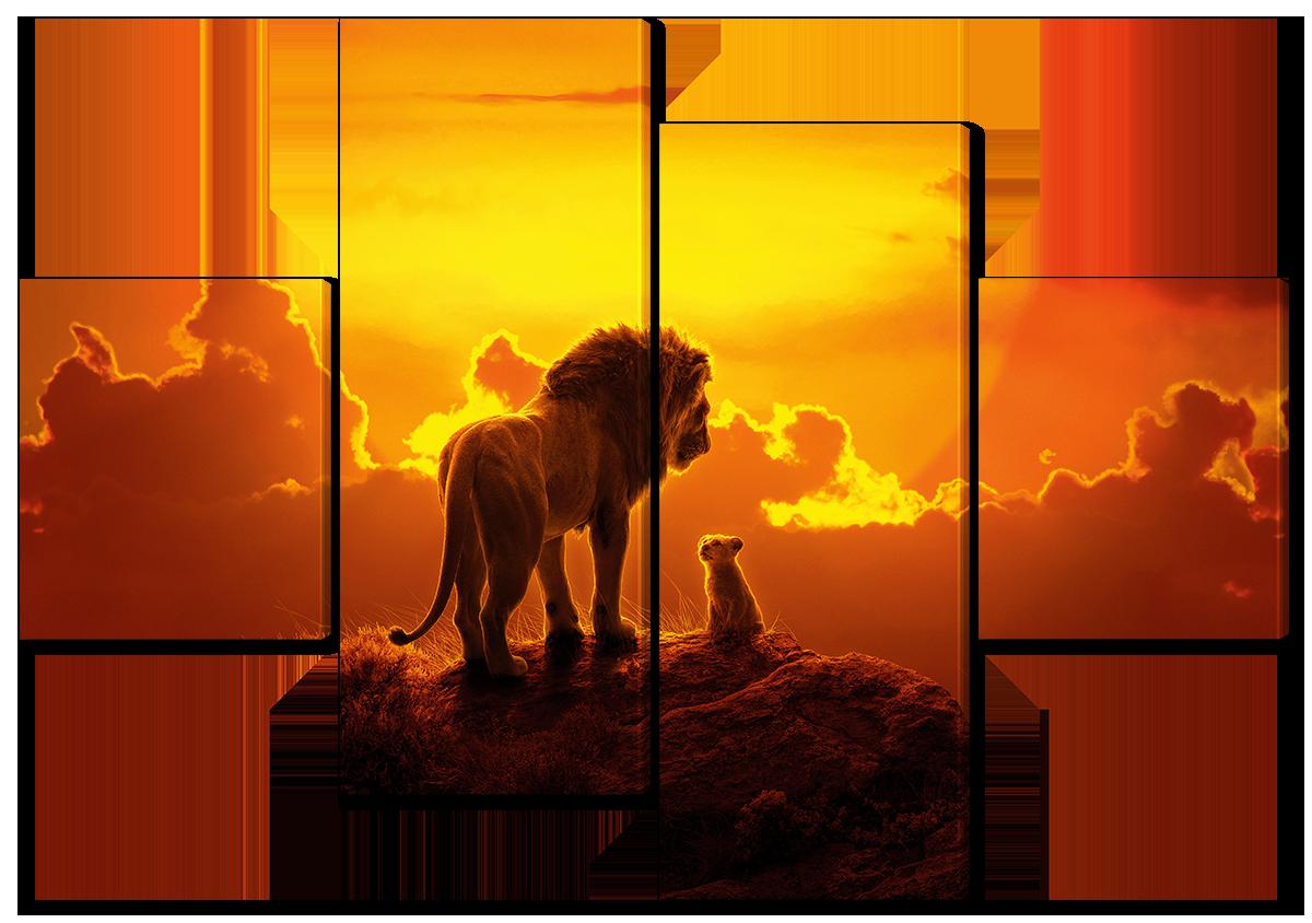 Модульная картина Interno Холст Король лев, начало 126х85см (R4503М)