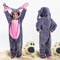 Теплая пижама Кигуруми с ушками зайчика для девочки 6-14 лет