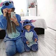 Оригинальная пижама Кигуруми Синий Стич (взрослые и детские)
