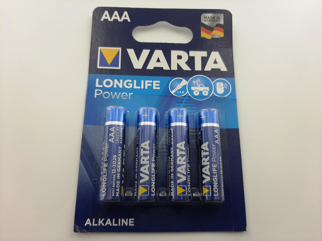 Батарейки VARTA 4903 LR03 4 BL