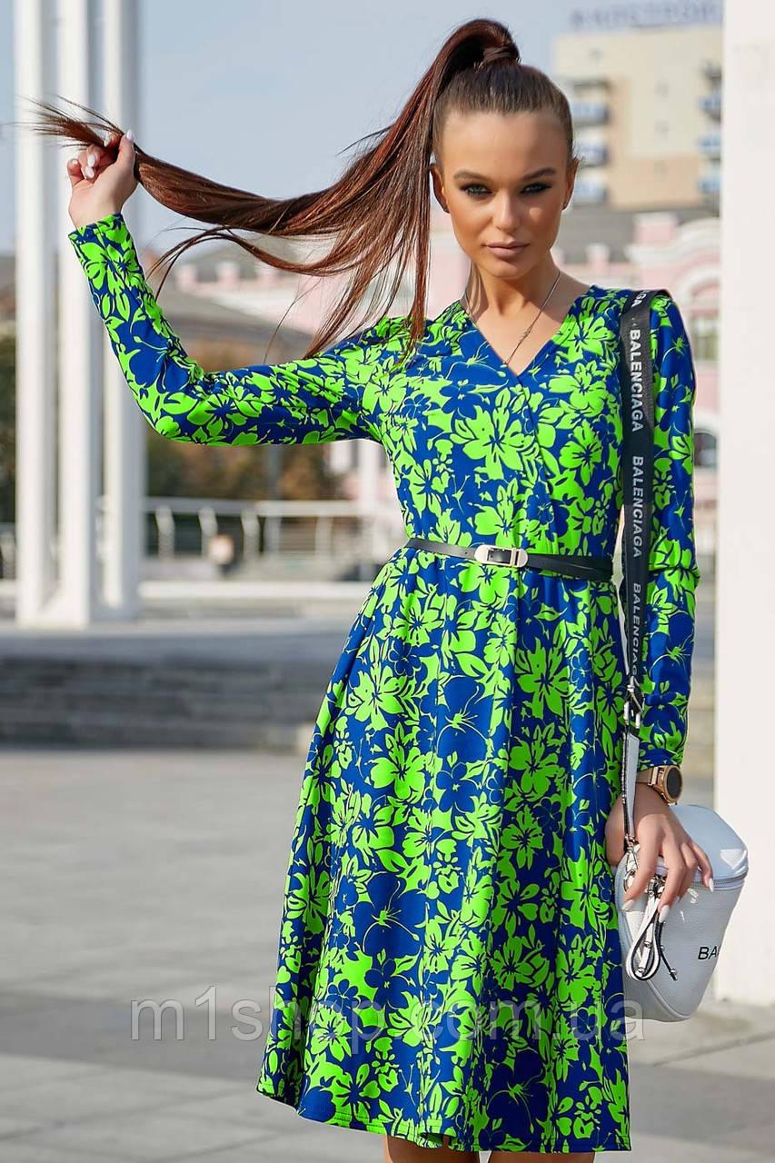Женское цветочное платье с запахом (3775-3778-3776-3774 svt)
