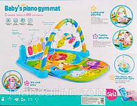 Коврик для младенца с пианино и звездным небом 9917-9918, с пультом., фото 1