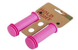 Грипсы Green Cycle GC-G96 102mm детские, эргономичные, розовые (STR)