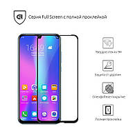 Защитное стекло для Huawei P Smart 2019/Honor 10i/10 lite Black(Полный клей)