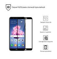 Защитное стекло (захисне скло) Huawei P Smart Black(Полный клей)