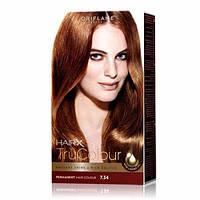 25432 Oriflame. Cтойкая краска для волос HairX TruColour - Тон 7.34., Золотистый каштановый, 125 мл. Орифлейм