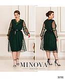Двухслойное платье батал Размеры: 50-52, 54-56, 58-60,62-64, фото 2