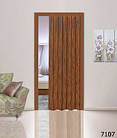 Дверь-гармошка глухая. Цвет: черешня №7107 2030мм/810мм/6мм